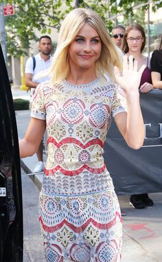 Julianne Hough from The Big Picture: Today's Hot Pics The adorable actress does the wave in NYC.