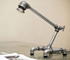diy pipe table lamp