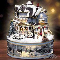 Thomas Kinkade A Holiday Gathering Music Box