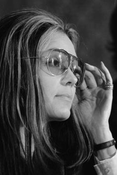 Gloria Steinem at a news conference, Women's Action Alliance, January  12, 1972.