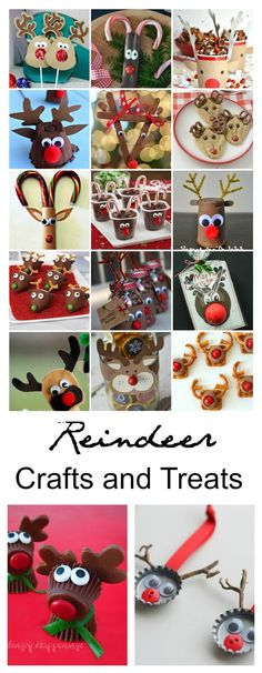 Reindeer Crafts and Treats | Sharing a great collection of Reindeer Treats and Craft ideas for you to make with the kids this Christmas and Holiday Season.: