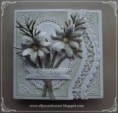 Elly´s Card- Corner Poppies, Tulips, Flower Cards, Potpourri, I Card, Wedding Cards, Scrap, Art Deco, Corner