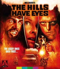 'The lucky ones died first' The Hills Have Eyes is a 1977 American horror film written and directed by Wes Craven. Horror Movie Posters, Cinema Posters, Horror Films, Scary Movies, Great Movies, Dee Wallace, The Hills Have Eyes, Wes Craven, By Any Means Necessary