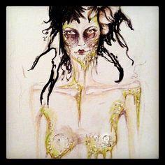 .  #zombie #ragdoll #flower #painting #markers #acrylic #art #illustration