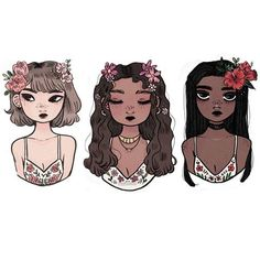 Floral bralettes are my aesthetic too ( I'm trying to sleep early these days trying to fight insomnia good night! ) • • • #illustration #art #drawing #girls #floral