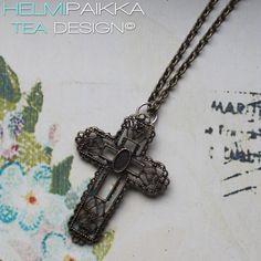 Helmipaikka Oy - Joka päivä on korupäivä - Helmipaikka. Crosses, Tea, Vintage, Vintage Comics, Teas