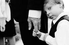 little kid holding grandpa's hand, wedding photo by Sergio Photographer, Arizona wedding photographer | via junebugweddings.com