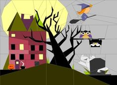 Looking for your next project? You're going to love Halloween Art Quilt by designer JaneenVN.