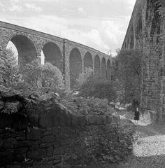 RAILWAY VIADUCTS, Chapel Milton, Chapel-en-le-Frith, Derbyshire. View of the twin railway viaducts at Chapel Milton.
