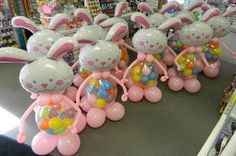 Balloon Easter Bunnies