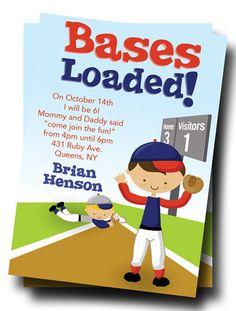 Baseball Birthday Party Invitations: Printable by thepartystork