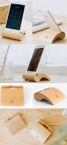 Wooden Bamboo Charge Cord Cable Organizer Cell Phone iPhone Charging Station Dock Duck Holder Business Card Holder