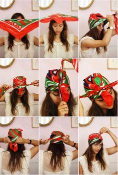 Como amarrar lenços na cabeça