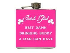 St Patricks Day Flask Best Drinking Buddy Pick by TaylorMadeFlasks