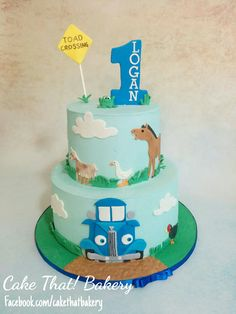 little blue truck first birthday