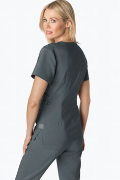 koi Designing Happiness™ - The official home of koi design scrubs. Koi, Criss Cross, Stretch Satin, Scrubs, Jumpsuit, High Neck Dress, Stylish, Fabric, How To Wear