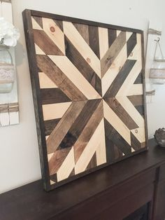 This is a hand crafted wood quilt star. It is hand cut, hand stained, and made with love. The pieces shown in the listing are all custom pieces that have already been sold but we guarantee that you will love your one of a kind piece just as much!  Dimensions available: approximately: 24 x 24 30 x 30 Some of the photos in the listing are 35 x 35. Please message us if youd like 35 x 35 so we can get you a shipping quote as that size is not available on the drop down ordering menu. We can do…