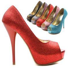 ollio Womens Platforms Pumps Stilettos