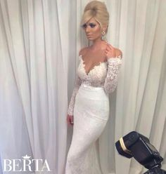 Im in love with Berta wedding dresses and this is no exception. The detail and lace is astounding