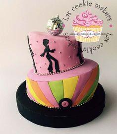 DANCE PARTY CAKE TORTA BAILE  lascookiemakers@gmail.com