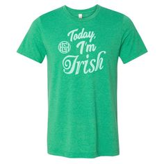 Today I'm Irish Uni SS