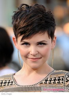 ginnifer goodwin choppy layered short haircut