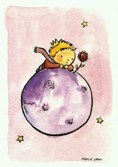 tribute to Antoine de Saint-Exupéry's The little Prince, by Maple Lam Petit Prince Quotes, Little Prince Quotes, The Little Prince, Zentangle, Prince Drawing, Cute Illustration, Cute Drawings, Cute Art, Watercolor Paintings