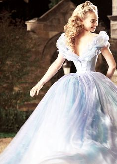 Lily James as Ella in 'Cinderella' (2015).