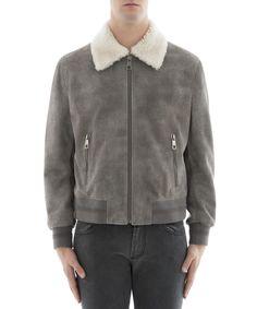 NEIL BARRETT Neil Barrett Men's  Grey Leather Outerwear Jacket. #neilbarrett #cloth #