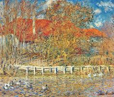 1873 Claude Monet Duck pond in autumn(private collection)(54 x 65 cm)