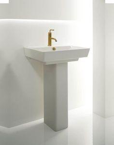Kohler K 5265 1 Veer Pedestal Sink With Single Faucet Hole 21