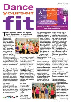 My #article is out today in ABC mag: about #dance, #fitness & keeping #children & #teens #active @EMDForLife #surrey
