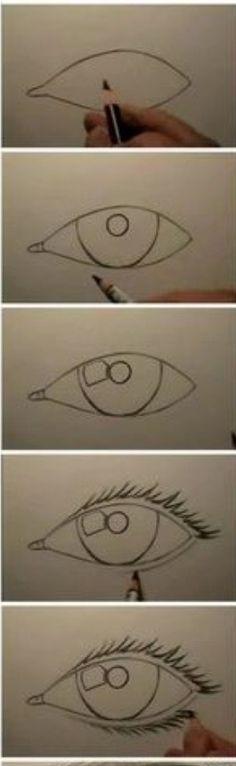 Learn How To Draw An Eye  #Entertainment #Trusper #Tip