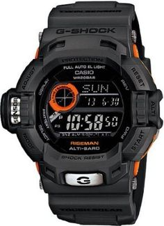 Limited Edition Black Orange Plastic Resin G-Shock Riseman Tough Solar Limited Edition Black Orange Plastic Resin G-Shock Riseman Tough Solar Casio G Shock Watches, Sport Watches, Casio Watch, Cool Watches, Watches For Men, Rugged Watches, New G Shock, Audemars Piguet Watches, Ray Ban Sunglasses