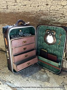 MADE TO ORDER Miniature Steamer Trunk / Luggage / Storage for Trinkets etc