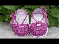 (Crochet-Crosia) how to make a baby sandal (part-1) - YouTube