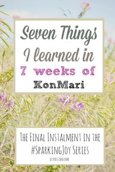 Seven things I learned in Seven Weeks of KonMari - An honest account of the wildly popular decluttering method. Lots of tips and tricks! Home Organisation, Life Organization, Marie Kondo Methode, Konmari Method, Tidy Up, Cleaning Hacks, Cleaning Checklist, Getting Organized, Homemaking
