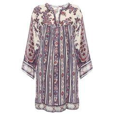 Isabel Marant Étoile Tresha paisley-print dress ($435) ❤ liked on Polyvore featuring dresses, navy, navy print dress, navy dress, colorful dresses, loose dress and paisley print dress