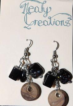 Handmade Dangle earrings with wood from Jerusalem by NealyCreations on Etsy