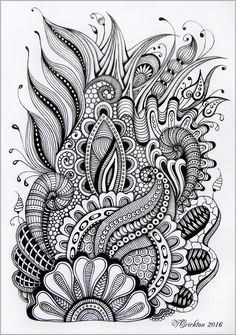 Viktoriya Crichton_Ukraine Nikolaev_Zentangle graphic hand-made pattern tangle abstract design graphic monochrome blackandwhite zentangle inspired zenart artdrawing artnet Drawing Illustration gelpen painting drawing artwork zentangle art Doodle Art Drawing, Zentangle Drawings, Zentangle Patterns, Painting & Drawing, Art Drawings, Doodles Zentangles, Doodle Patterns, Abstract Drawings, Abstract Designs