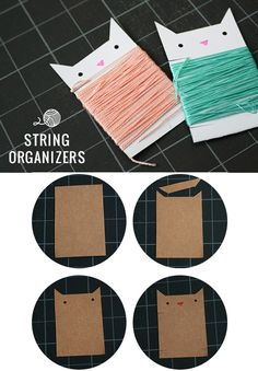 DIY Craft Room Ideas and Craft Room Organization Projects - DIY String Organizers - Cool Ideas for Do It Yourself Craft Storage - fabric, paper, pens, creative tools, crafts supplies and sewing notions Craft Room Storage, Pegboard Craft Room, Craft Organization, Kitchen Pegboard, Pegboard Garage, Pegboard Display, Craft Rooms, Tool Storage, Storage Ideas