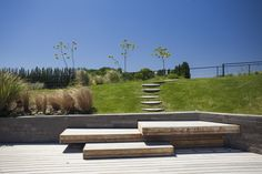 Image 3 of 23 from gallery of Casa Rampa / Andrés Remy Arquitectos. Photograph by Alejandro Peral Landscape Architecture, Landscape Design, Architecture Design, Landscape Steps, Urban Landscape, Concrete Stairs, Deck Stairs, Wooden Stairs, Wooden Decks