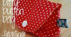 kostenlose Anleitung und Schnittmuster Betty button bag - kleine Tasche mit Knopf