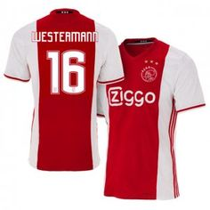 16-17 Ajax Cheap Home #16 Westermann Replica Football Shirt [I00253]