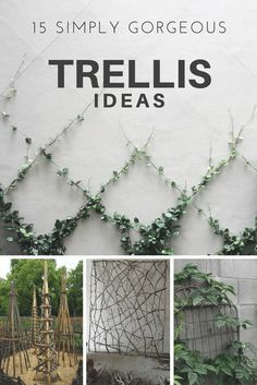 Secret gardens are a beautiful way of garden landscaping that will create your dream garden in your backyard. Find out what you need to include in your garden design (like garden paths and patios) to make your beautiful backyard garden a reality. Porch Trellis, Garden Trellis, Clematis Trellis, Plants For Trellis, Bougainvillea Trellis, Wire Trellis, Flower Trellis, Tomato Trellis, Dream Garden