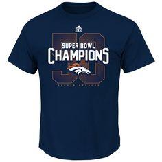 Denver Broncos Super Bowl 50 Champions Men's XL T-SHIRT #DenverBroncos