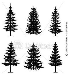 Vektor - fura, träd CanStock