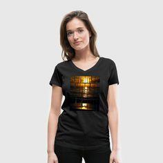 Summer Sunset Beach Frauen T-Shirt - Frauen T-Shirt mit V-Ausschnitt