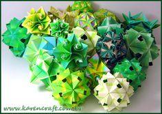 Green! Verde! Kusudama!   Karencraft