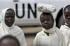 Young Girls Return from School in North Darfur, Sudan - Stuart Price